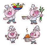 Pig cook