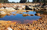 acidic river Tinto in Niebla (Huelva)