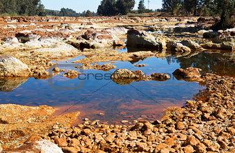 acidic river Tinto in Niebla (Huelva)