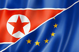 Europe and North Korea flag