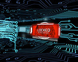 Locked screen in digital circuit board