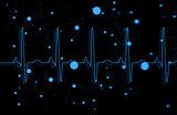 Blue ECG line