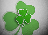 Shamrock design on grey wall