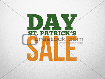 Green and orange advertisement for st patricks day sale