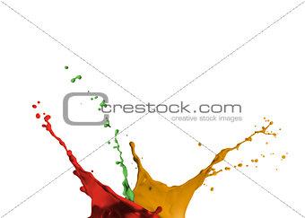 Artistic paint splashing