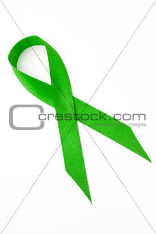 Green ribbon for awareness