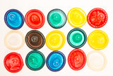 Many different coloured condoms