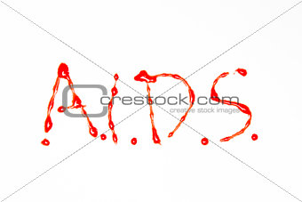 Aids spelled out in blood