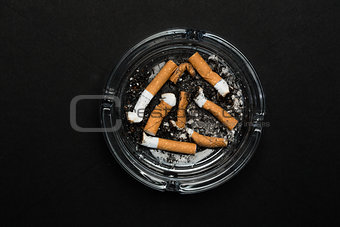 Ashtray full of butts