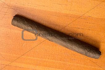 Cigar on table
