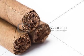 Three cigars stacked