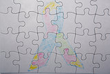 Crayon drawing of autism and aspergers ribbon