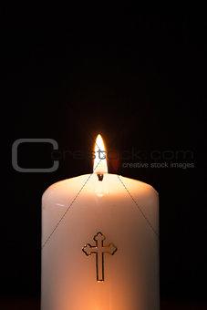 Catholic candle burning