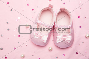Baby shoes for a girl