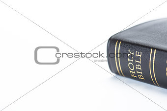 Black leather bound holy bible