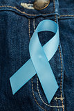 Blue ribbon for prostate cancer awareness