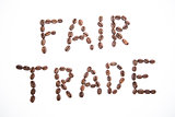 Fair trade spelled out in coffee beans