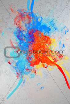 Artistic paint splashes