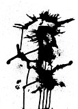 Black ink abstract design