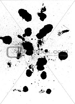 Black ink blobs abstract design
