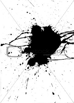 Black paint messy splash