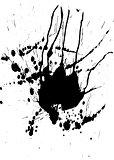 Black paint splash and blobs