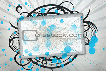 Blank screen with black artistic frame