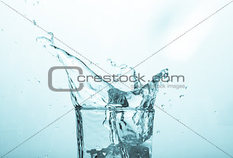 Close up on a glass of water