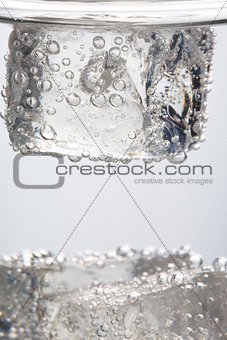 Close up on ice cube