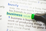 Business definition highlighted