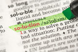 Highlighted definition of solution