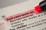 Businesswoman definition highlighted in red