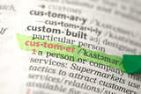 Customer definition highlighted in green