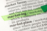 Marketing definition highlighted in green