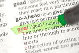 Goal definition highlighted in green