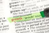 Growth definition highlighted in green