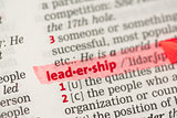 Leadership definition highlighted in red
