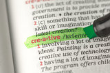 Creative definition highlighted in green