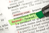 Brand definition highlighted in green