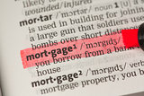 Mortgage definition highlighted in red