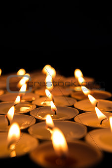 Candles lighting up the dark