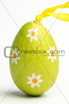Green wrapped Easter egg