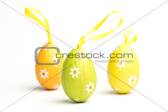 Three foil wrapped easter eggs