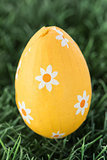Yellow foil wrapped easter egg