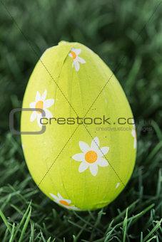 Green foil wrapped easter egg