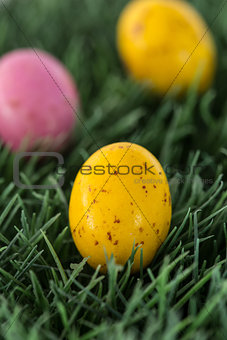 Small speckled easter eggs