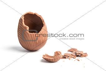 Broken easter egg