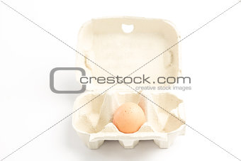 Carton with one egg