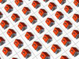 Red roofed 3d houses