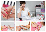 Collage of nail salon situations